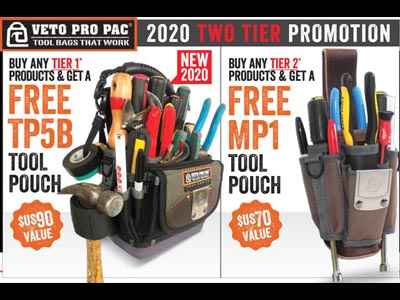 Free TP5B or MP1 with select Veto Pro Pac  purchases