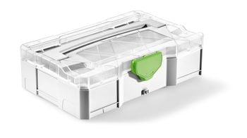 Festool NEW SYS Mini T-Loc Empty Systainer w/ Clear Lid (203813)